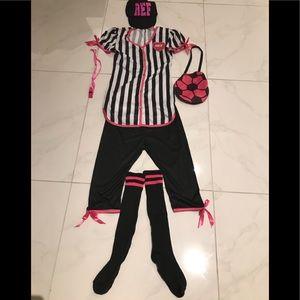 Adorable women's referee costume.